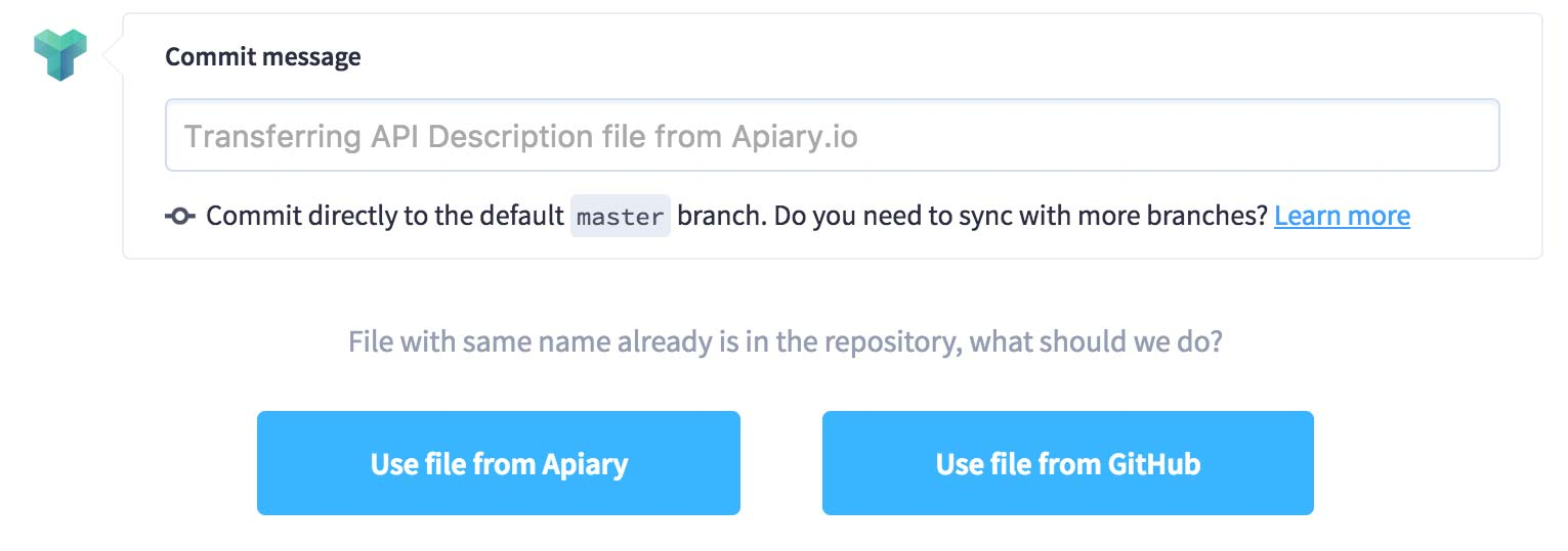 Github sync apiary help making changes to your api description malvernweather Choice Image