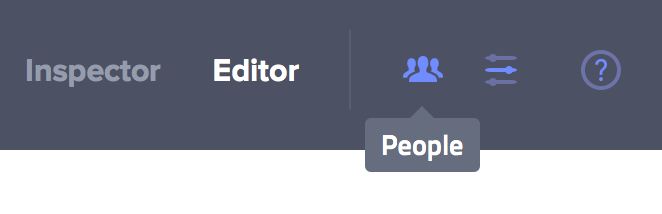 People Dialog Button